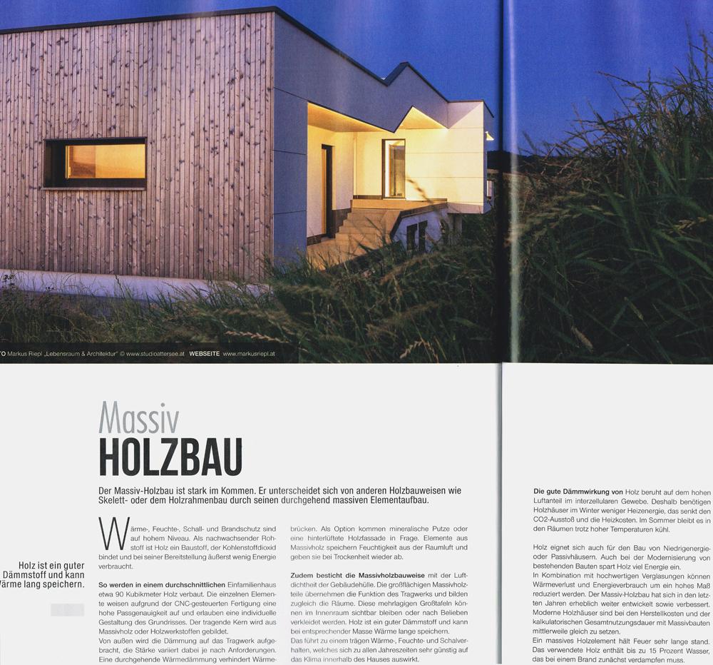 Massivholzhaus und die Vorteile - Markus Riepl ::: Resonanzarchitekt